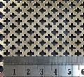 Polished Brass Grille Small Club Perforated Sheet 2000mm x 1000mm x 0.7mm